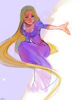 Rapunzel Sketch by Barukurii