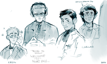 Welcome to Night Vale doodles by Barukurii