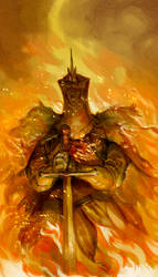 Ivory King Swathed in Fire by Barukurii