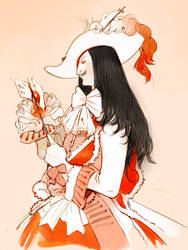 Inktober 2016 - Blood Witch by Barukurii