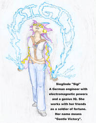 Character Design: Sieglinde 3/4's viewpoint by Toastanium