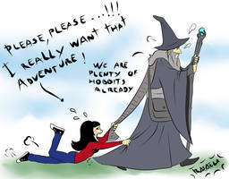 Take me with you Gandalf!! by Axcido