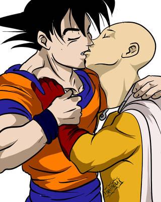 Goku and Saitama by Axcido