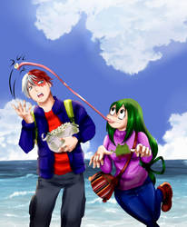 Todoroki and Asui in Bolivia by Axcido
