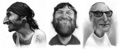 Robert, Hugo and Bill by Sycra