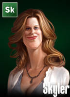 Breaking Bad Caricature - Skyler White by Sycra