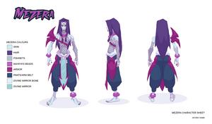 Mezera Character Sheet by Sycra