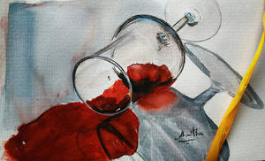Spilled wine by Nakshatra13