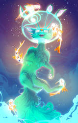 space fish for a space cat by clockbirds