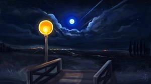 Moon - speedpaint by SunMoonDragoness