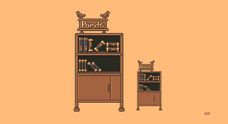 Books shelf by RoboFoxChan