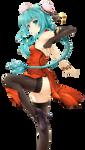 Miku Hatsune Chinese by iamglee
