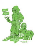 Link + Zelda by reyyyyy