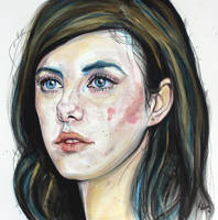 Her beautiful blue eyes by KlarEm