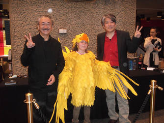 Chocobo with Uematsu-san and Hamauzu-san! by calleymacleod