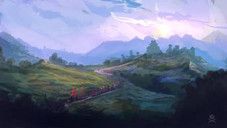 Into Battle Speedpaint by tr4ze