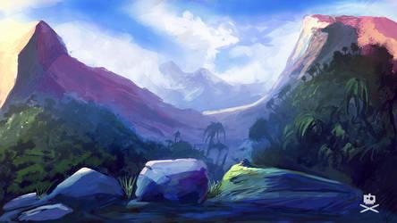 colorful landscape by tr4ze