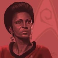 Star Trek TOS portrait series 03 - Uhura - Nichols by jadamfox