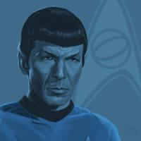 Star Trek TOS portrait series 02a - Spock - Nimoy by jadamfox