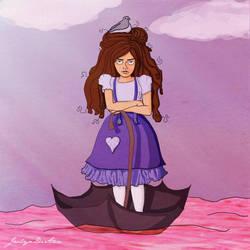 Illustration Friday 'Adrift' by JaclynDiAnn