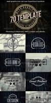 70 Logo | Badge | Insignia Templates Bundle by superpencil666