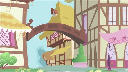 [Background] Ponyville scenery by TriteBristle