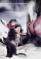 Black Cat II by XiaoBaiArt