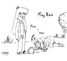 Inktober 2014 - #03 - Mole and Irma Find a Frog by pro-mole