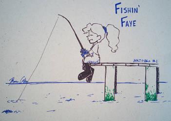#Inktober 2017 - Fishin' Faye by pro-mole