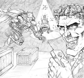 Batman and Robin Vs. Joker by R.A.M. by robertmarzullo