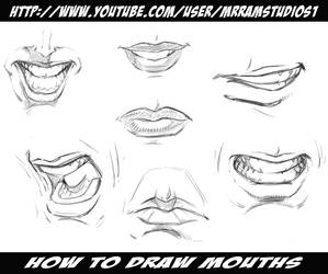 How to Draw Mouths / Various Poses by robertmarzullo