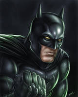 Batman Painting by robertmarzullo