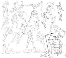 20 Cool Comic Book Poses by RAM by robertmarzullo