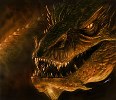 Smaug Digital Painting by RAM by robertmarzullo