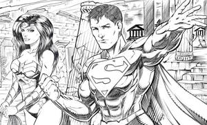 Superman and Wonder Woman by robertmarzullo