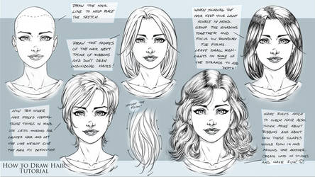 How to Draw Comic Style Hair - Tutorial by robertmarzullo