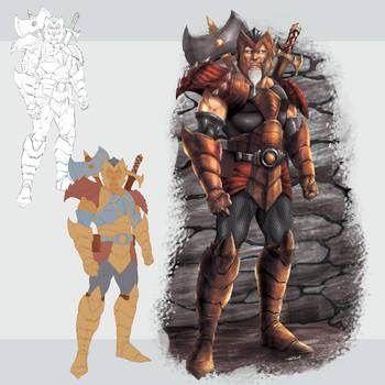 Warrior Concept Art by robertmarzullo