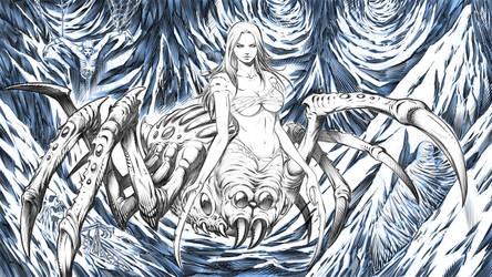 Creature Design - Spider Queen by robertmarzullo