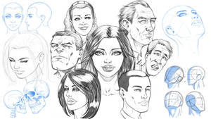 How to Draw Comic Style Heads by robertmarzullo