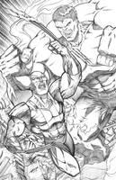 Wolverine Vs Hulk by robertmarzullo