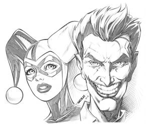 Joker and Harley Quinn by robertmarzullo