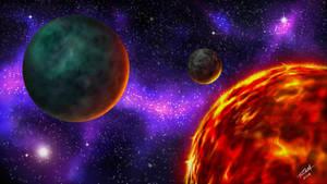 Space Scene by robertmarzullo