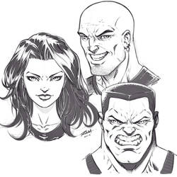 Drawing the Bad Guys and Girls of Comics by robertmarzullo