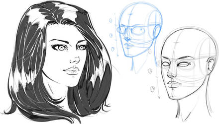 Drawing a Pretty Girl's Face for Comics by robertmarzullo