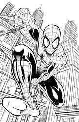 Spider-man in Action by robertmarzullo