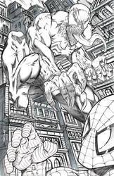 Venom Attacking Spider-man by robertmarzullo