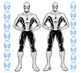 Spider-man Proportions Sheet by robertmarzullo
