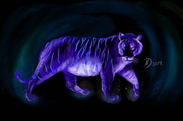 Glowing Tiger by Balticdragon