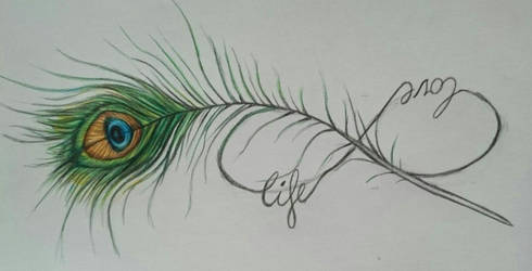 Peacock feather tattoo design by Balticdragon