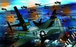 Ww2 Air Battle by artistzak
